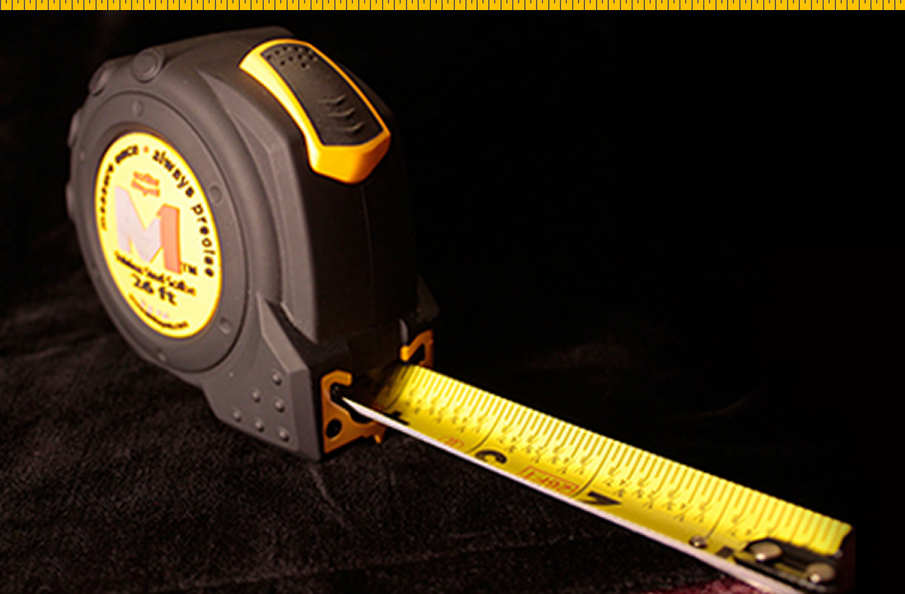M1 Tape Measure Blackbg